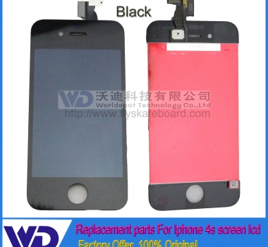 Black iPhone 4s Full Original LCD screen Digitizer Assembly Replacement,Low Price For iPhone 4s display
